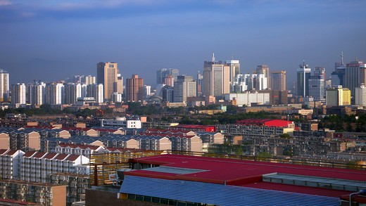 Stock Photo: 1886R-22852 Cityscape In Shijiazhuang,Hebei Province,China