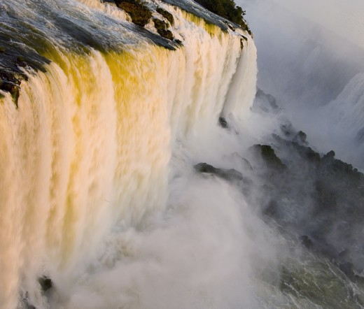 Stock Photo: 1886R-23584 The Falls Of Iguassu,Brazil