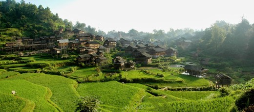 Village Of Dong Tribe,Guizhou,China : Stock Photo
