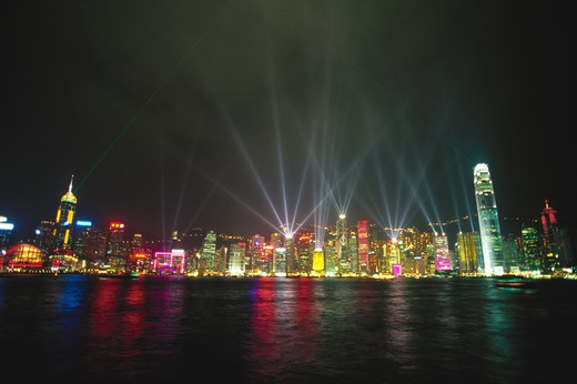 Stock Photo: 1886R-63619 Hongkong skyline from Kowloon