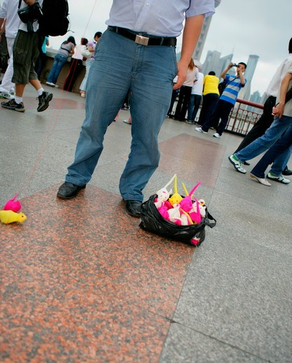 vender on the Bund,Shanghai,China : Stock Photo