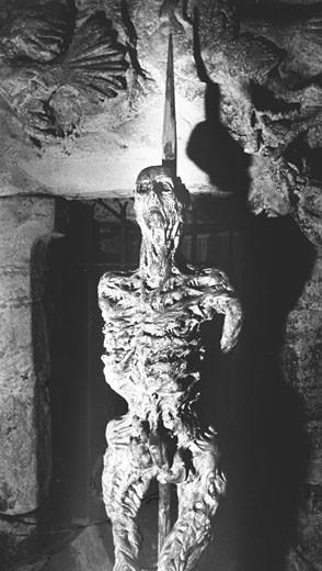 Impaled Man, Chillingham Castle, Northumberland, England : Stock Photo