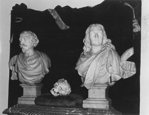 Effigies of the Earls of Lonsdale, St Michael's Church, Lowther, Cumbria, England : Stock Photo