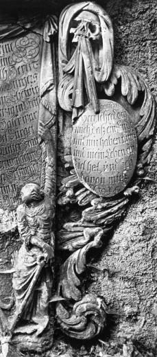 Detail on Tomb, Kreuzkirche Graveyard, Zittau, Germany : Stock Photo