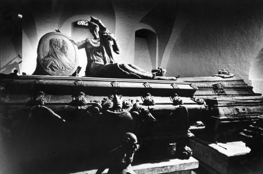 Sarcophagi, Schloss Weissenfels, Sachsen-Anhaltm, Germany : Stock Photo