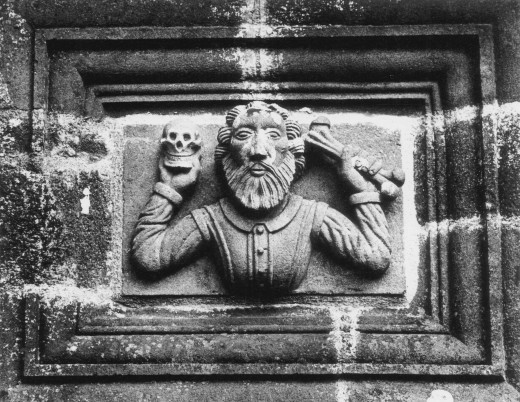 Detail, L'Eglise La Martyre, Brittany, France : Stock Photo