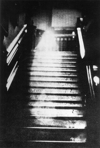 The Ghost of the 'Brown Lady' of Raynham Hall, Norfolk, England : Stock Photo