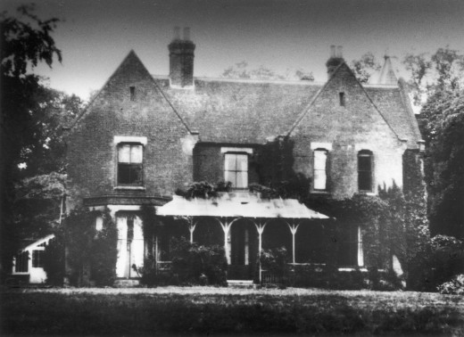 Borley Rectory (before the fire), Suffolk, England : Stock Photo