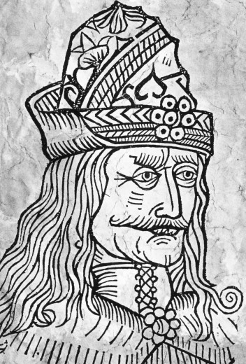 Etching of 'Vlad The Impaler' : Stock Photo