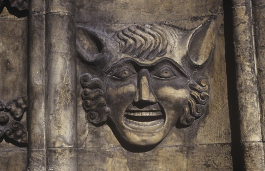 Head, St Mary's Church, Beverley, Yorkshire, England : Stock Photo