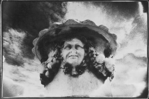 Detail on an Urn, Wallington Hall, Northumberland, England : Stock Photo