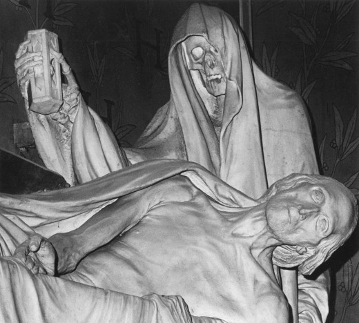 Detail from the Funerary Monument to the Count of Harcourt, Notre - Dame Cathedral, Paris : Stock Photo