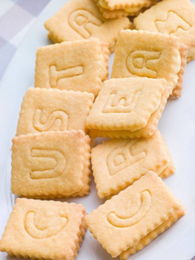 Stock Photo: 1888R-14091 Custard Cream Biscuits