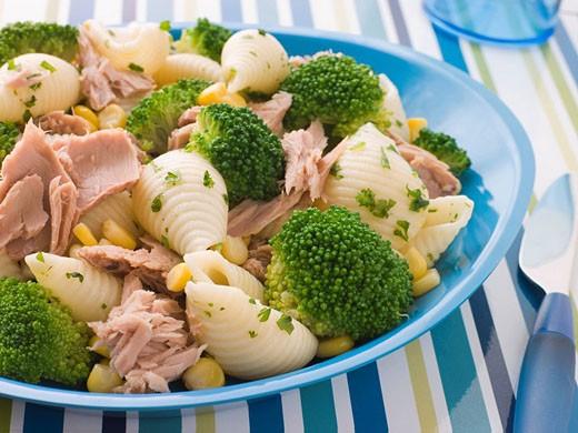 Tuna and Broccoli Pasta Shells : Stock Photo