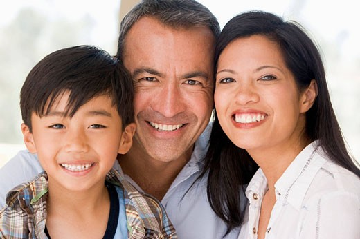 Stock Photo: 1888R-15792 Family together smiling