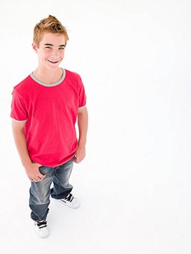 Stock Photo: 1888R-17969 Teenage boy smiling