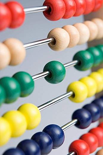 Abacus With Multi_Colored Beads : Stock Photo