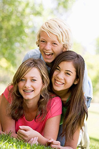 Portrait Of Brother And Sisters : Stock Photo