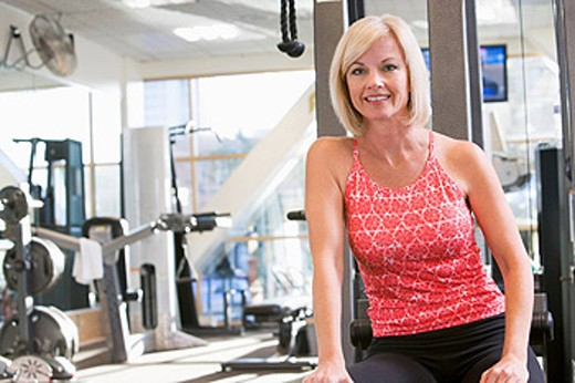 Portrait Of Woman At Gym : Stock Photo