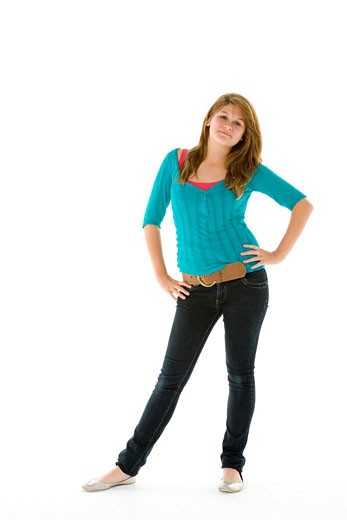 Full Length Portrait Of Teenage Girl : Stock Photo
