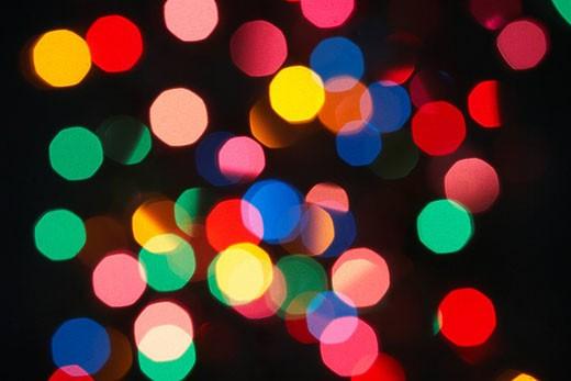 Stock Photo: 1888R-22039 Abstract Christmas Tree Lights
