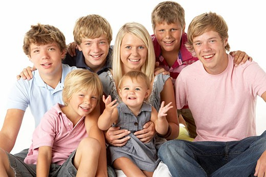 Family Group Happy Together : Stock Photo
