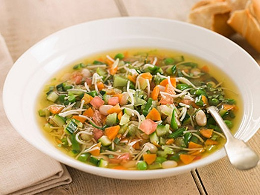 Stock Photo: 1888R-23837 Bowl of Pistou Soup