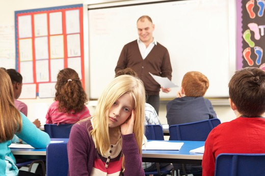 Stock Photo: 1888R-39035 Schoolchildren Studying In Classroom With Teacher