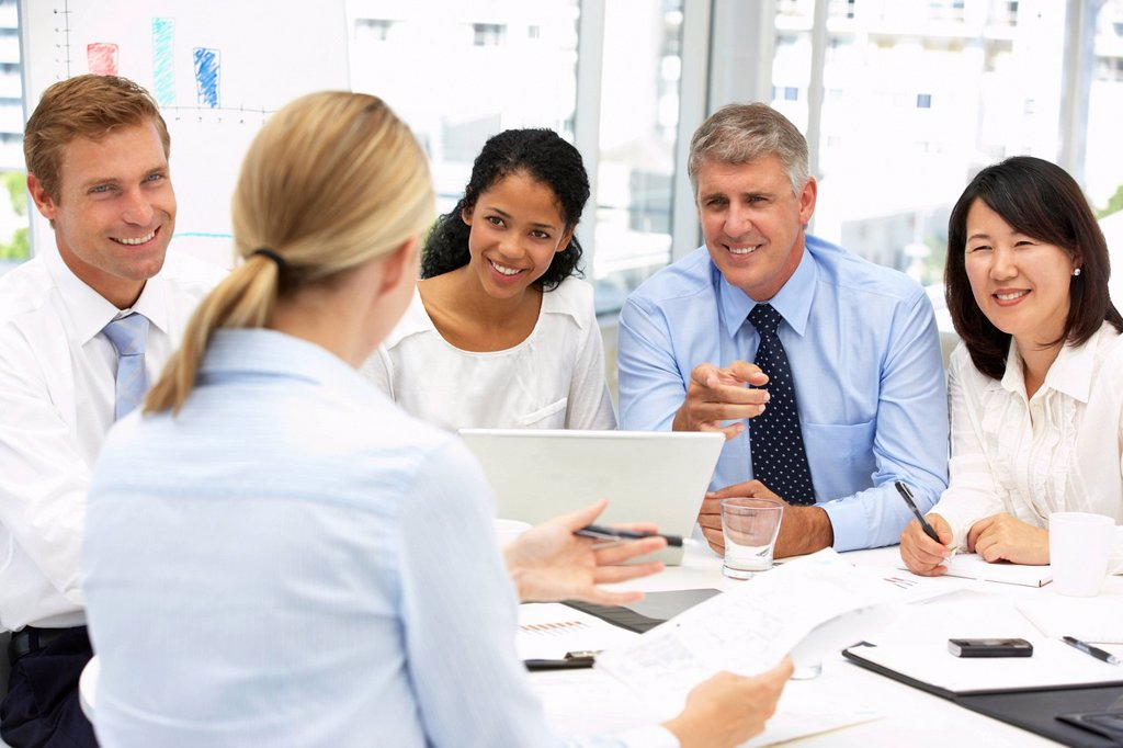 Recruitment office meeting : Stock Photo