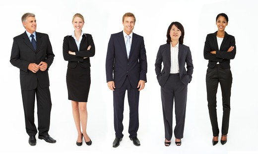 Stock Photo: 1888R-41856 Mixed group of business men and women