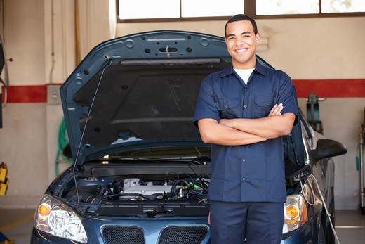Mechanic at work : Stock Photo