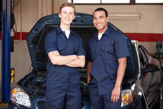 Mechanics at work : Stock Photo