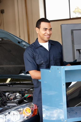 Stock Photo: 1888R-43067 Mechanic at work