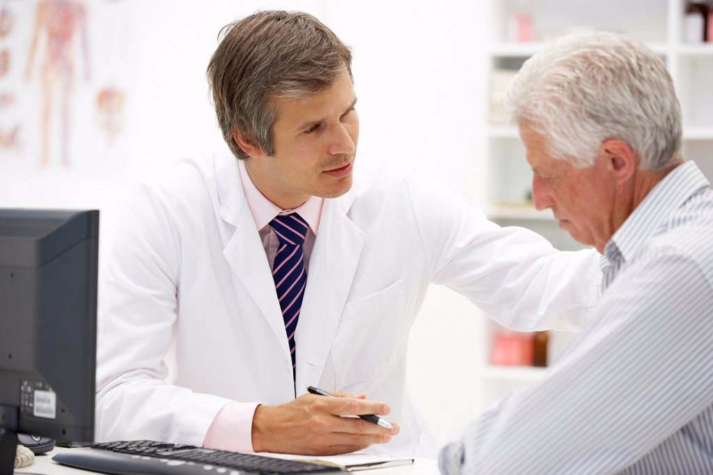 Stock Photo: 1888R-43312 Doctor with senior patient