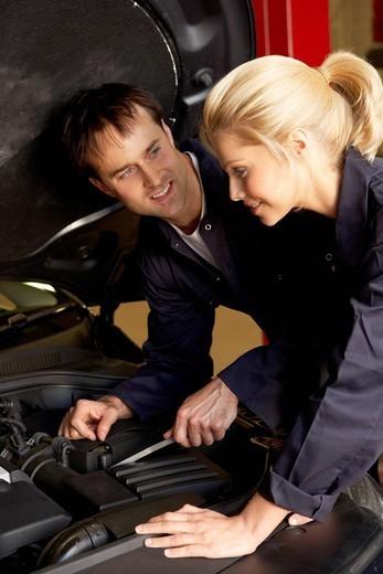 Mechanics at work : Stock Photo