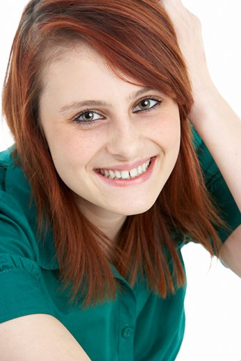 Stock Photo: 1888R-5878 Portrait Of Smiling Teenage Girl