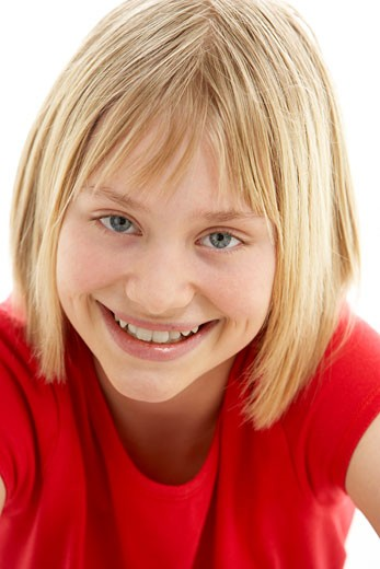 Portrait Of Smiling Young Girl : Stock Photo