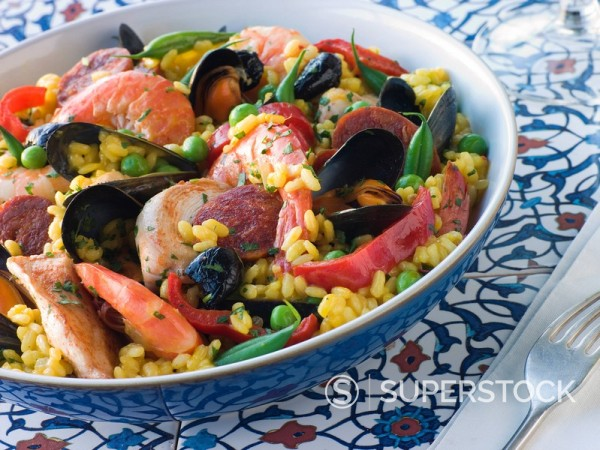 Stock Photo: 1888R-8348 Bowl of Paella
