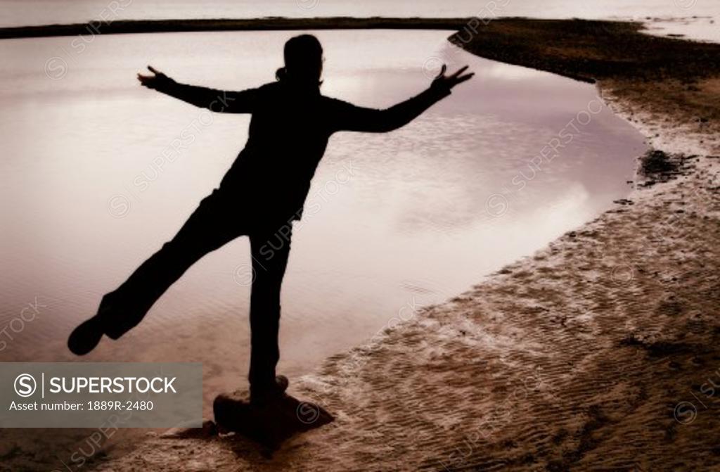 Stock Photo: 1889R-2480 Person striking a pose