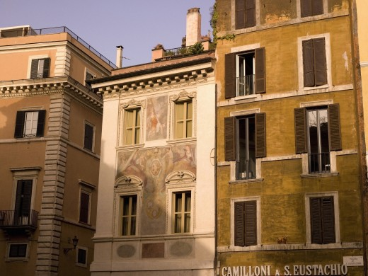 Stock Photo: 1889-40776 Apartment houses on Old town; Rome, Italy