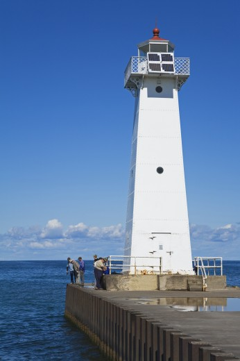 Outer Sodus Lighthouse; Rochester, New York State, USA : Stock Photo