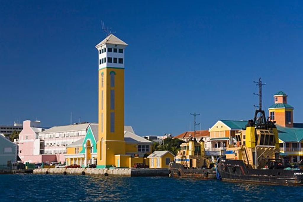 Stock Photo: 1889-41196 Port Authority Building; Prince George Wharf, Nassau Harbor, New Providence Island, Bahamas