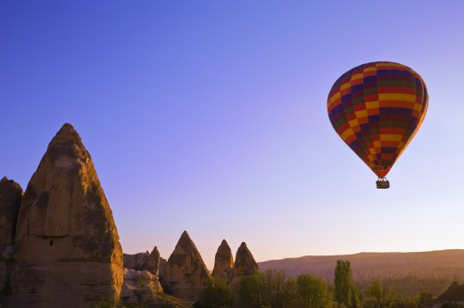 Balloons over Goreme valley; Cappadocia : Stock Photo