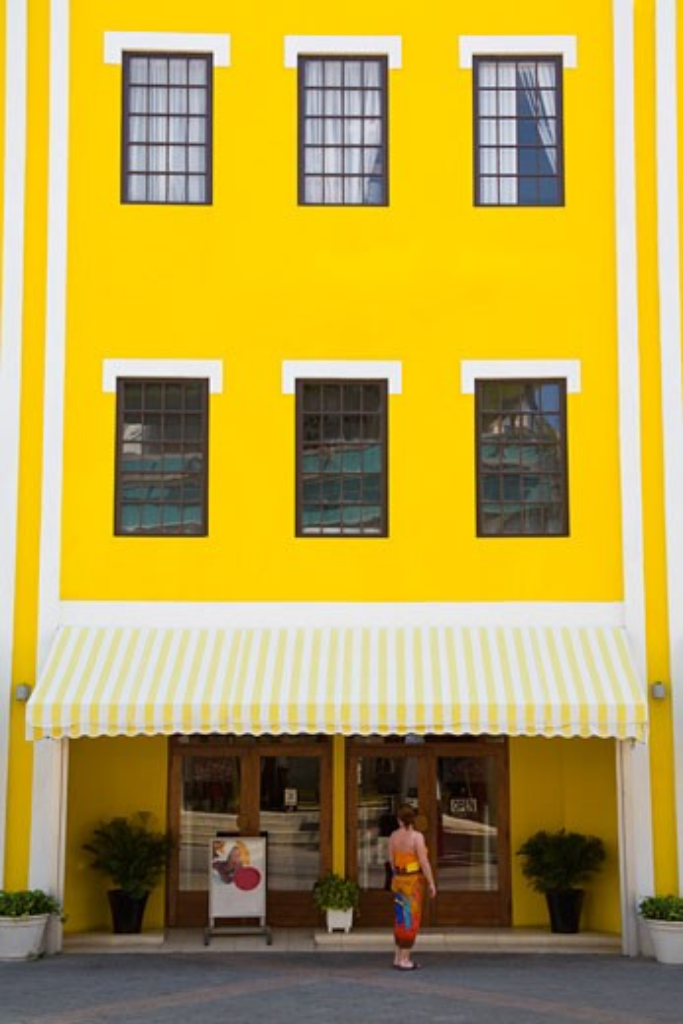 Stock Photo: 1889-41811 Local architecture; Aruba Trading Company Building, Main Street, Oranjestad, Island of Aruba, Aruba, Kingdom of the Netherlands
