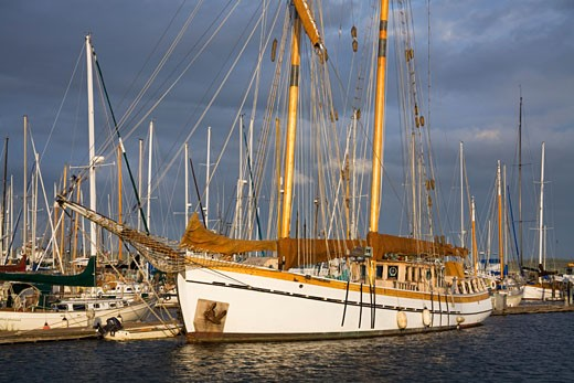 Stock Photo: 1889-41982 Wooden Sailing Ship; Port Townsend, Washington State, USA