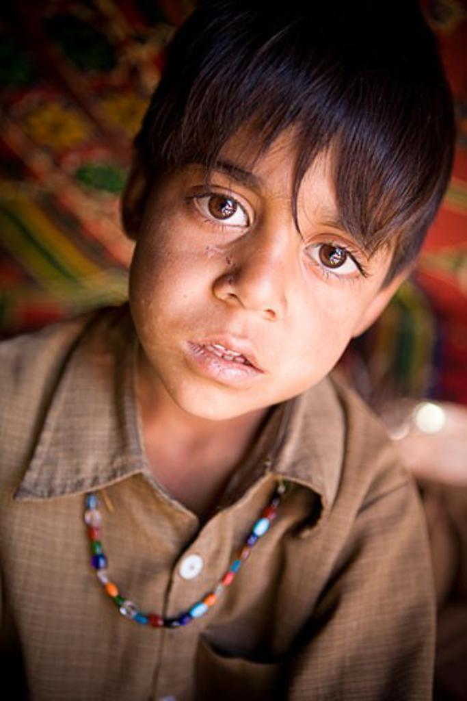 Stock Photo: 1889-43204 Lidderwat, Kashmir, India; Portrait of a boy