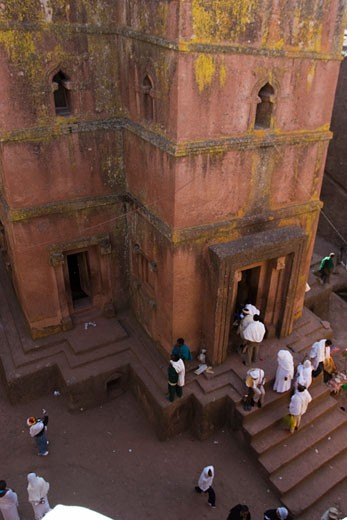 Lalibela, Ethiopia; View of the Bete Giyorgis : Stock Photo
