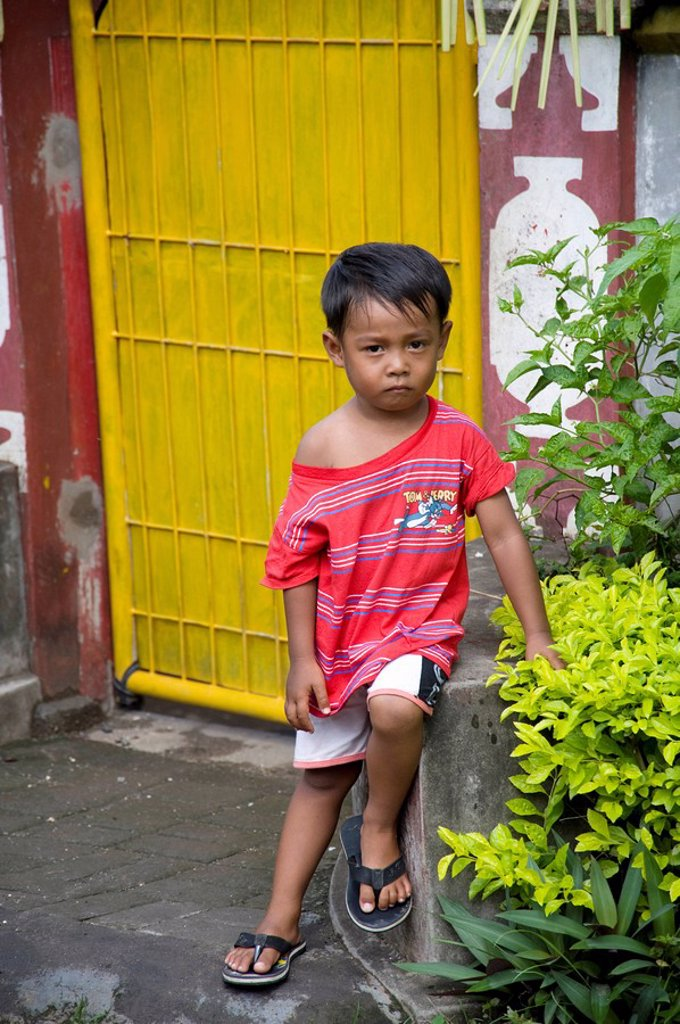 Young boy outdoors in Indonesia : Stock Photo