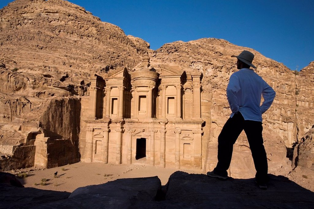 Stock Photo: 1889-44775 Al Deir in Petra