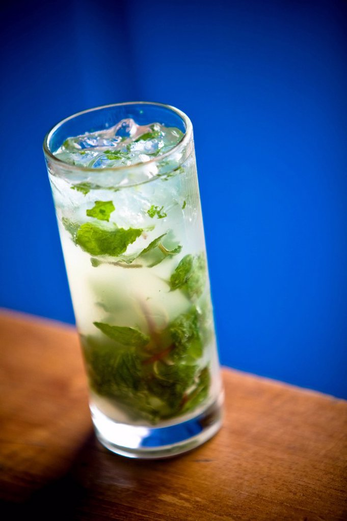 A Mojito with ice : Stock Photo